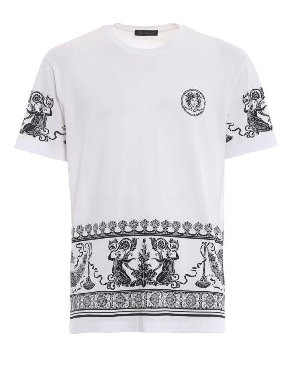 VERSACE: T-shirts - T-Shirt - Weiß