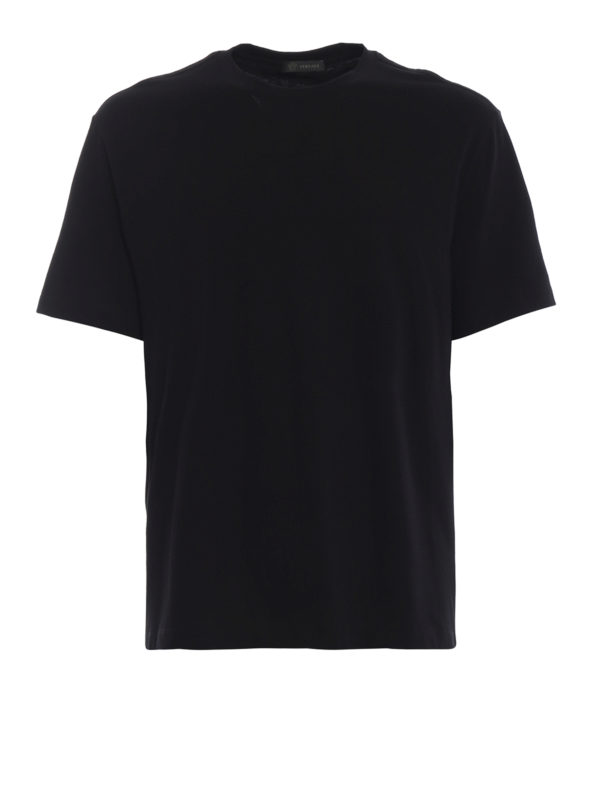 VERSACE: T-shirts - T-Shirt - Schwarz