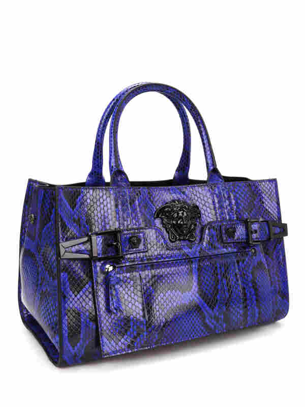 Versace: totes bags online - Python Palazzo bag