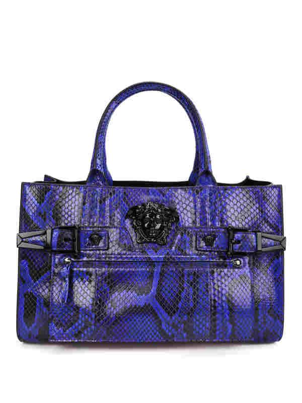 Versace: totes bags - Python Palazzo bag
