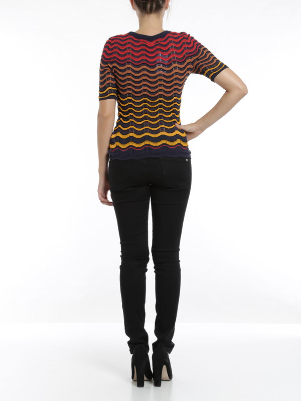 Wave striped t-shirt shop online: M Missoni
