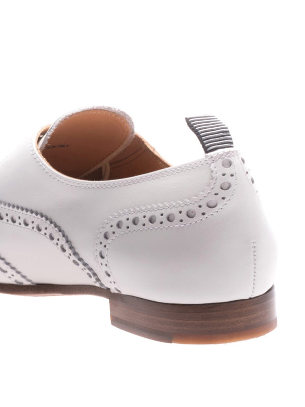 White leather Oxford brogues shop online: CHURCH