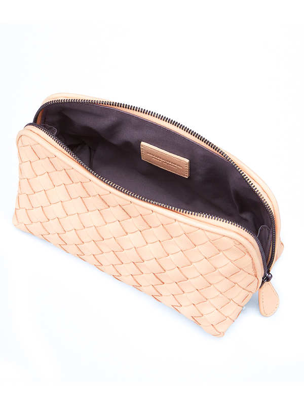 Woven nappa beauty case shop online: Bottega Veneta