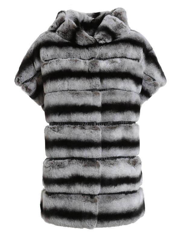 Yves Salomon Chinchilla Rex Rabbit Fur Vest Fur