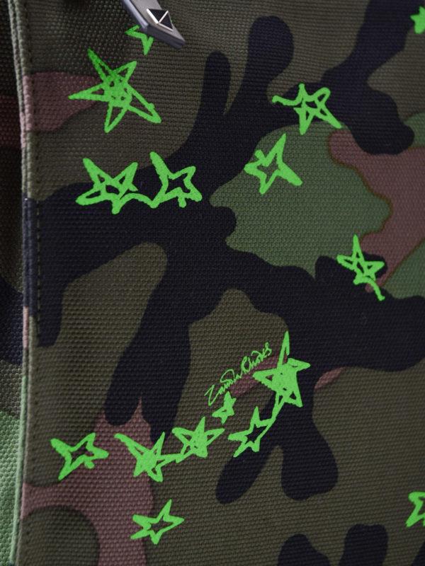 Zandra green stars document case shop online: VALENTINO GARAVANI