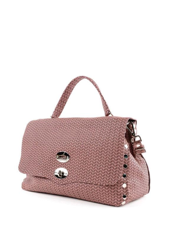 ZANELLATO: Handtaschen online - Shopper - Dunkelrosa