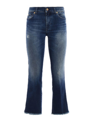 7 For All Mankind: bootcut jeans - Cropped bootcut jeans