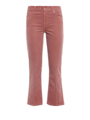 7 FOR ALL MANKIND: pantaloni casual - Pantaloni crop bootcut in velluto a costine