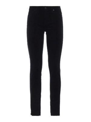 7 FOR ALL MANKIND: pantaloni casual - Pantaloni The Skinny in velluto nero