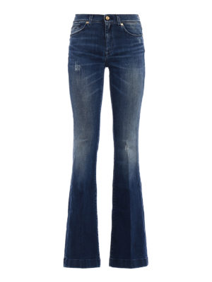 7 For All Mankind: flared jeans - Charlize jeans