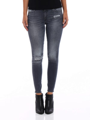 7 For All Mankind: skinny jeans online - Slim Illusion skinny crop jeans