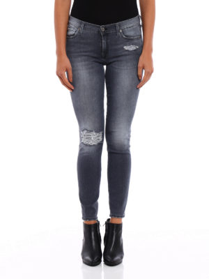 7 For All Mankind: skinny jeans online - The skinny crop slim illusion jeans