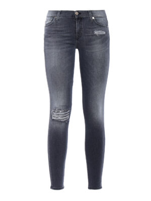 7 For All Mankind: skinny jeans - Slim Illusion skinny crop jeans
