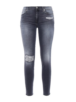 7 For All Mankind: skinny jeans - The skinny crop slim illusion jeans