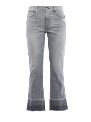 7 For All Mankind: straight leg jeans - Cropped boot worn out jeans