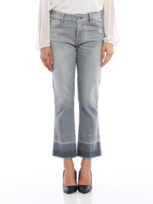 7 For All Mankind: straight leg jeans online - Cropped boot worn out jeans