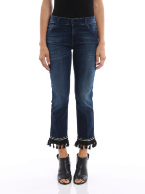 7 For All Mankind: straight leg jeans online - The ankle flare cropped boot jeans