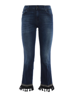 7 For All Mankind: straight leg jeans - The ankle flare cropped boot jeans
