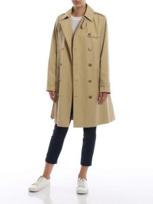 A.P.C.: cappotti trench online - Trench Josephine in gabardine di cotone