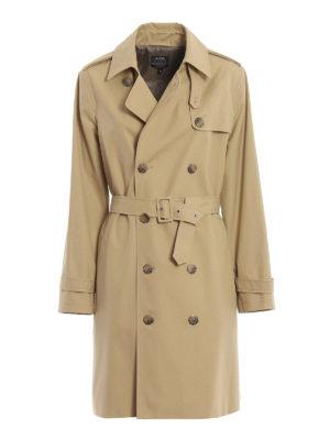 A.P.C.: cappotti trench - Trench Josephine in gabardine di cotone