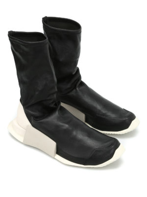 Adidas by Rick Owens: boots online - Walrus leather socks boots