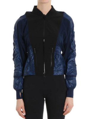 Adidas by Stella McCartney: casual jackets online - Two-tone tech fabric sporty jacket