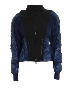 Adidas by Stella McCartney: casual jackets - Two-tone tech fabric sporty jacket