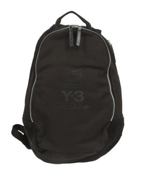 ADIDAS Y-3: zaini - Zaino in cotone e camoscio nero