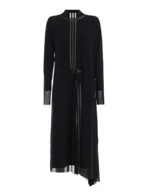 ADIDAS Y-3: abiti lunghi - Maxi abito 3-Stripes Mesh nero