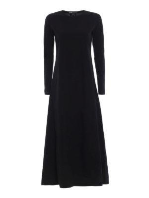 ADIDAS Y-3: abiti lunghi - Abito maxi Stacked Logo nero