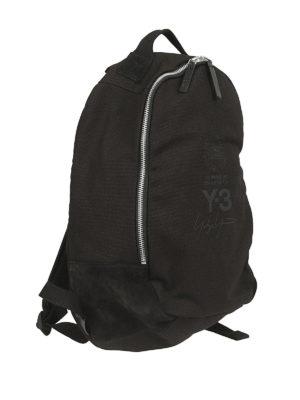 ADIDAS Y-3: zaini online - Zaino in cotone e camoscio nero