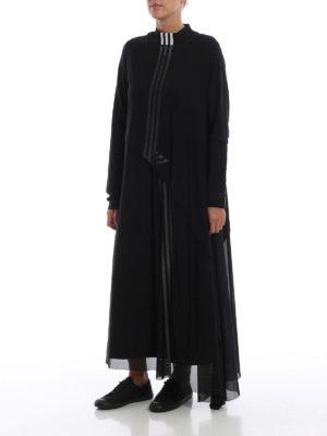ADIDAS Y-3: abiti lunghi online - Maxi abito 3-Stripes Mesh nero