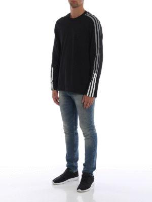 ADIDAS Y-3: t-shirt online - T-shirt a maniche lunghe 3-Stripes Tee