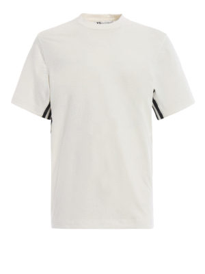 ADIDAS Y-3: t-shirt - T-shirt in jersey bianco 3-Stripes Tee