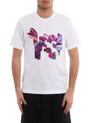 Adidas Y-3: t-shirts online - Coloured logo T-shirt