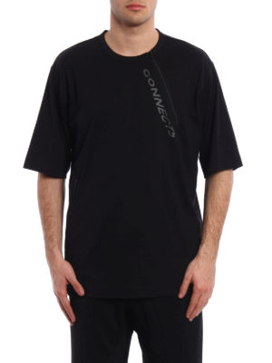 Adidas Y-3: t-shirts online - Two zip over T-shirt