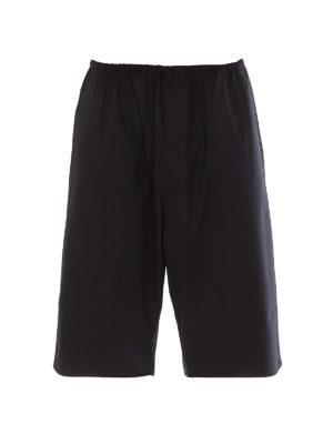 ADIDAS Y-3: Trousers Shorts - Stretch wool blend shorts