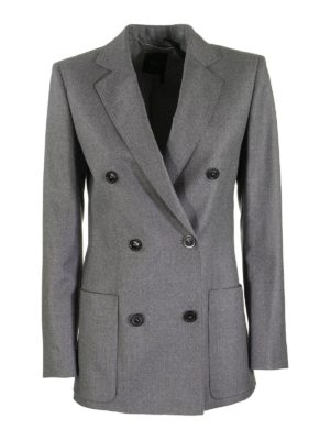 AGNONA: blazers - Wool flannel double-breasted blazer