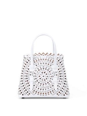 Alaïa: cross body bags - New Vienne optic white mini tote
