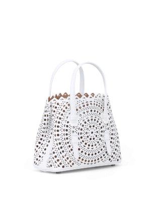 Alaïa: cross body bags online - New Vienne optic white mini tote