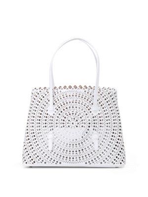Alaïa: totes bags - New Vienne optic white medium tote