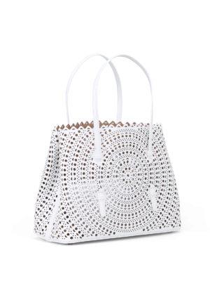Alaïa: totes bags online - New Vienne optic white medium tote