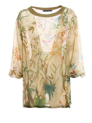 Alberta Ferretti: blouses - Floral print silk blouse
