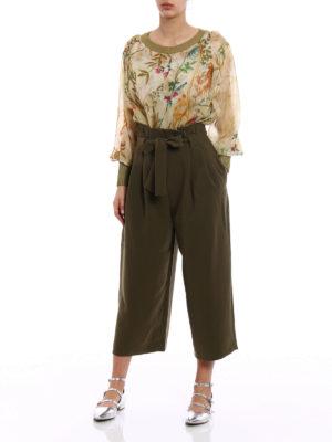 Alberta Ferretti: blouses online - Floral print silk blouse