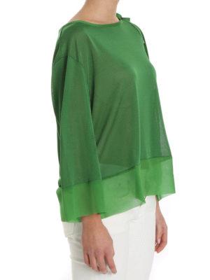Alberta Ferretti: blouses online - Silk and viscose sheer blouse