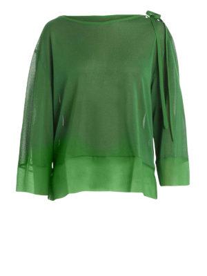 Alberta Ferretti: blouses - Silk and viscose sheer blouse