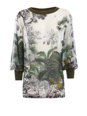 Alberta Ferretti: blouses - Silk chiffon crew neck blouse