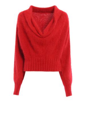 Alberta Ferretti: boat necks - Cowl collar angora sweater