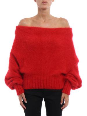 Alberta Ferretti: boat necks online - Cowl collar angora sweater