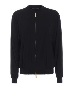 Alberta Ferretti: casual jackets - Crepe cady sweatshirt style jacket